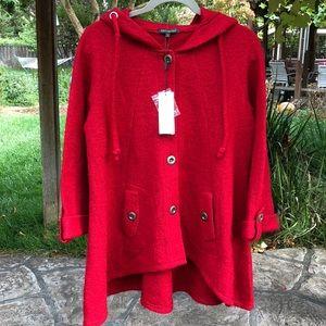 "❤️""Little Red Riding Hood"" Wool Coat - Misses Sz M"